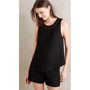 Anthropologie Elevenses Black Romper